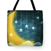 moon and stars Tote Bag by Setsiri Silapasuwanchai