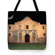 Moon Over The Alamo Tote Bag by Carol Groenen