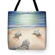 Moonlit March Tote Bag by Amy S Turner