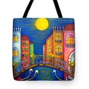 Moonlit Venice Tote Bag by Lisa  Lorenz