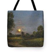 Moonrise Tote Bag by Charles Francois Daubigny