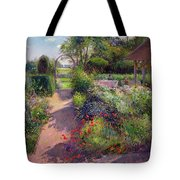Morning Break In The Garden Tote Bag by Timothy Easton