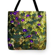 Morning Glories Tote Bag by Margie Hurwich