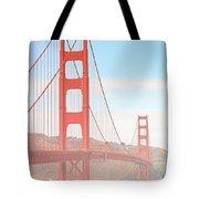 Morning Has Broken - Golden Gate Bridge San Francisco Tote Bag by Christine Till