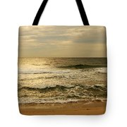 Morning On The Beach - Jersey Shore Tote Bag by Angie Tirado