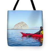 Morro Bay Kayaker Tote Bag by Bill Brennan - Printscapes