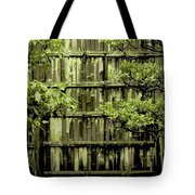 Mossy Bamboo Fence - Digital Art Tote Bag by Carol Groenen