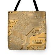 Motherboard - Printed Circuit Tote Bag by Michal Boubin