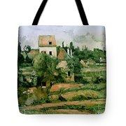 Moulin de la Couleuvre at Pontoise Tote Bag by Paul Cezanne