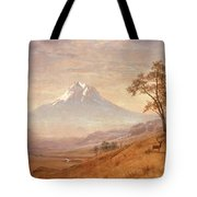 Mount Hood Tote Bag by Albert Bierstadt
