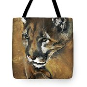 Mountain Lion - Guardian Of The North Tote Bag by J W Baker