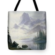 Mountain Out Of The Mist Tote Bag by Albert Bierstadt