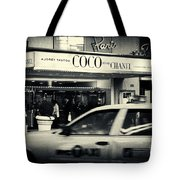 Movie Theatre Paris In New York City Tote Bag by Sabine Jacobs