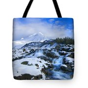 Mt. Hood Morning Tote Bag by Mike  Dawson