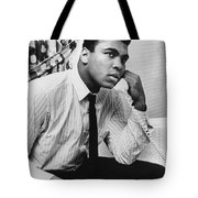 MUHAMMAD ALI (1942- ) Tote Bag by Granger