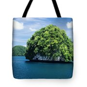 Mushroom-shaped Island Tote Bag by Dave Fleetham - Printscapes