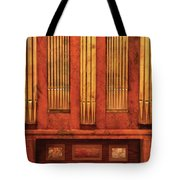 Music - Organist - Skippack  Ville Organ - 1835 Tote Bag by Mike Savad