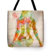 Music Was My First Love Tote Bag by Nikki Marie Smith