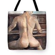 Musician Tote Bag by Yuliya Podlinnova