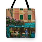Musicians' Stroll In Portofino Tote Bag by Charlotte Blanchard