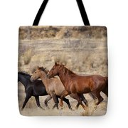 Mustang Trio Tote Bag by Mike  Dawson