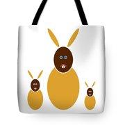 Mustard Bunnies Tote Bag by Frank Tschakert