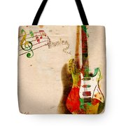 My Guitar Can SING Tote Bag by Nikki Smith