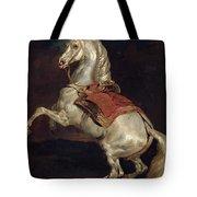 Napoleon's Stallion Tamerlan Tote Bag by Theodore Gericault