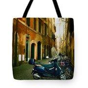 narrow streets in Rome Tote Bag by Joana Kruse
