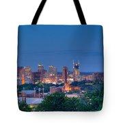 Nashville By Night 1 Tote Bag by Douglas Barnett