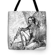 Native American With Pipe Tote Bag by Granger