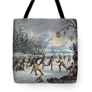Native Americans: Ball Play, 1855 Tote Bag by Granger