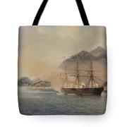 Naval Battle of the Strait of Shimonoseki Tote Bag by Jean Baptiste Henri Durand Brager