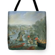 Naval Battle with the Spanish Fleet Tote Bag by Pierre Puget