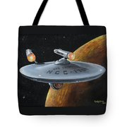 Ncc-1701 Tote Bag by Kim Lockman