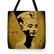 Nefertiti Egyptian Queen Tote Bag by Georgeta  Blanaru