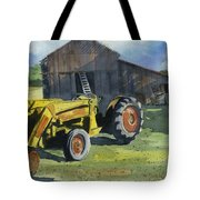 Neighbor Dons Tractor Tote Bag by Marsha Elliott