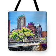 Neon Tampa Tote Bag by Carol Groenen