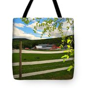 New England Farm Tote Bag by Catherine Reusch  Daley