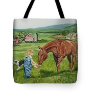 New Friends Tote Bag by Charlotte Blanchard