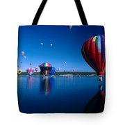 New Mexico Hot Air Balloons Tote Bag by Jerry McElroy