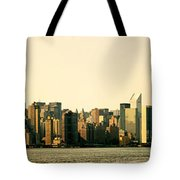 New York City Skyline Panorama Tote Bag by Vivienne Gucwa