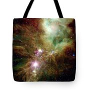 Newborn Stars In The Christmas Tree Tote Bag by Stocktrek Images