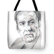 Nicolas Cage Tote Bag by Murphy Elliott