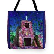 Night Magic San Miguel Mission Tote Bag by Kurt Van Wagner