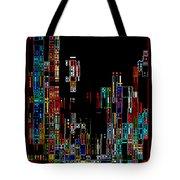 Night on the Town - Digital Art Tote Bag by Carol Groenen