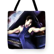Nina - Feeling Good - Birds Flying High You Know How I Feel  Tote Bag by Reggie Duffie