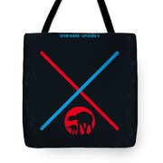 No155 My Star Wars Episode V The Empire Strikes Back Minimal Movie Poster Tote Bag by Chungkong Art