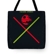 No156 My Star Wars Episode Vi Return Of The Jedi Minimal Movie Poster Tote Bag by Chungkong Art