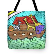 Noahs Ark Two Tote Bag by Wayne Potrafka